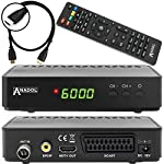 Anadol HD 202c digitaler Full HD Kabel Receiver für digitales Kabelfernsehen inkl. HDMI Kabel (HDTV, DVB-C/C2, HDMI, SCART, Mediaplayer, USB 2.0, 1080p) [automatische Installation] - schwarz
