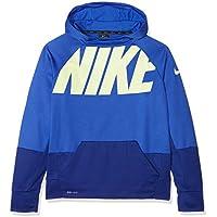 Nike B NK THRMA Hoodie PO GFX Sudadera, Niños, Azul (Hyper Deep Royal Blue/Volt), M