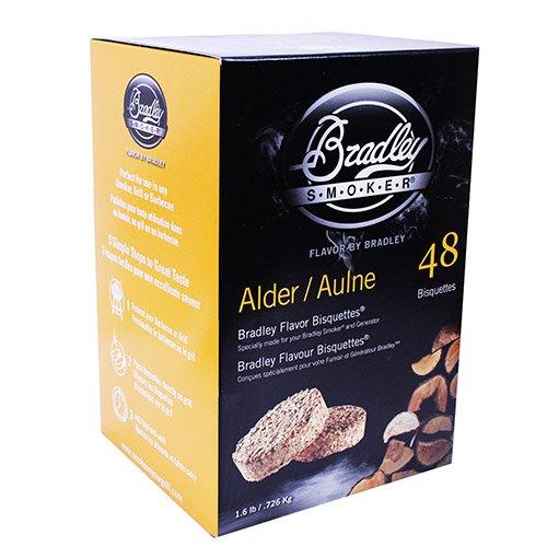 Bradley Bisquetten Erle (Alder) 48 STK - Bradley Food Smoker