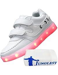 [Present:kleines Handtuch]Rot EU 41, weise Top athletische USB Lade Blink Schuh Frauen JUNGLEST® Paar LED