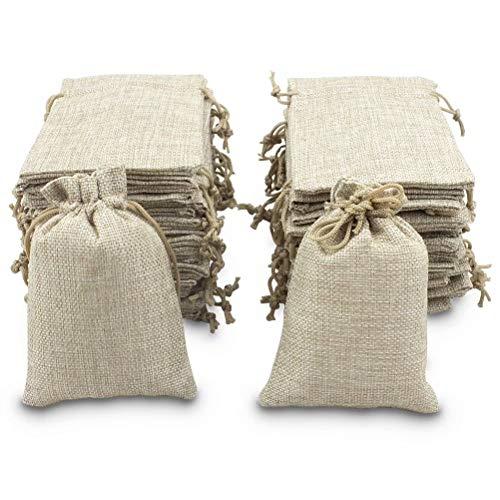 Bolsas de arpillera BeGrit con cordón para regalo