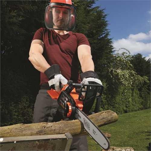 Black+Decker Li Ion Akku-Kettensäge 18V GKC1825L20 mit Akku und Ladegerät / Ideal für Holz- & Gartenarbeiten / 25 cm Schwertlänge - 5