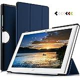 IVSO Acer Iconia One 10 (B3-A40) Hülle, Ultra Schlank Ständer Slim Leder zubehör Schutzhülle perfekt geeignet für Acer Iconia One 10 B3-A40 2017 Tablet PC, Blau