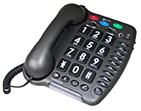 Geemarc AMPLIPOWER 50- Extra Loud Big Button Corded Telephone - Anthracite