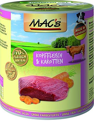 MACs Dog Kaninchen & Gemüse | 6x 800g Hundefutter nass (Hundefutter Kaninchen)