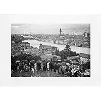 Archivio Foto Locchi Firenze – Stampa Fine Art su passepartout 70x50cm. – Immagine del panorama di Firenze alluvionato nel 1966