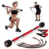 Body Trainer Fitnessgerät für Zuhause - Heimtrainer Krafttraining Trainingsbänder Ganzkörper Trainingsgerät Sportgerät für Frauen & Männer + Fitness Workout EBOOK (Über 170cm)