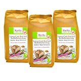 Martha Lower-Carb-Brot hell - glutenfreie low carb Bio Brot-Backmischung, Paleo, natürlich, lecker, im 3er Pack (3 x 300g)