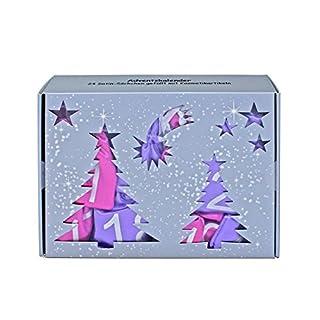 Make-up Adventskalender 'Satin Bags' pink/lila  mit 24 Satin-Säckchen