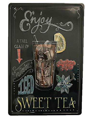 EJOY té dulce Emossed Tin Sign–Placa metálica diseño Retro Vintage para pared 20x 30cm decorativo–ideal para Pub bar Office Hogar Dormitorio Comedor Cocina–Cool Classic Shabby Chic de regalo presente