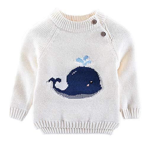 MRULIC Kinder Strickpullover Baby Winter Sweatshirt Gestricktes Langarm Pullover 0-4 Jahre Baby Mädchen und Jungen Unisex Pullover aus Strickjacke Baby Sweatjacke Winter Herbst Pullover -