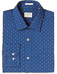 Arrow Men's Printed Slim Fit Cotton Formal Shirt