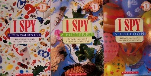 / I Spy A Balloon / I Spy A Butterfly - 3 Book Set (I Spy Beginning Reader, Level 1) by Jean Marzollo (2010-01-01) ()