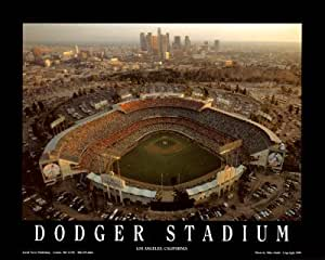 Dodger stade de LA Skyline au Coucher du Soleil Poster Affiche Par Mike Smith, 10 x 8 cm