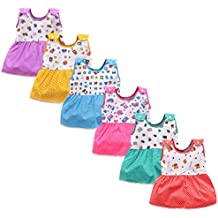 Luke and Lilly Baby Girls Cotton Frock - Pack of 6