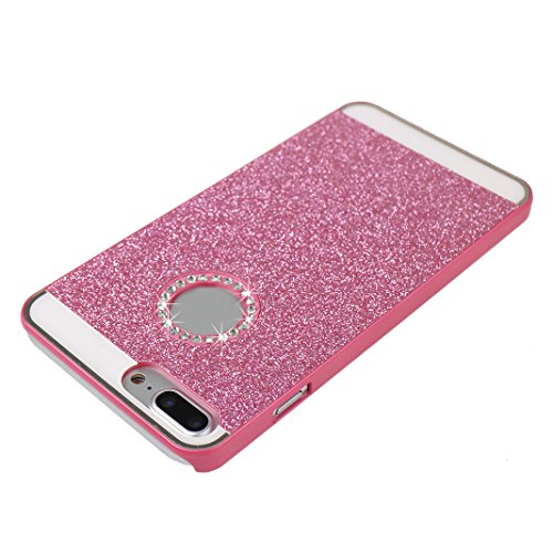 2 PCS iPhone 8 Plus/ iPhone 8 Plus Hülle Glitzer, iPhone 7 Plus Hard Glitzer Case, iPhone 8 Plus Hard Glitzer Case, Moon mood® Ultra Slim Thin 3D Bling Strass Hülle Hart Bling Gliter Handytasche Krist 2 PCS 6