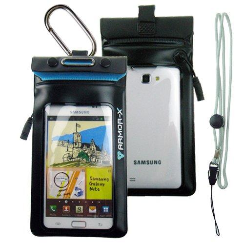 ARMORX armor-x-Custodia impermeabile per Samsung Galaxy Note/Note 2/S3/tutti i modelli BlackBerry e altri smartphone con display