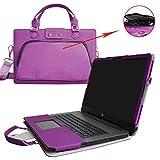HP Notebook 17 Housse,(2 en 1) spécialement conçu Étui de protection en cuir PU + sac portable Sacoche pour 17.3' HP Notebook 17 17-x000 17-bs000 17-y000 Series Portable Notebook(NON compatible avec ENVY 17 & Pavilion 17),Violet
