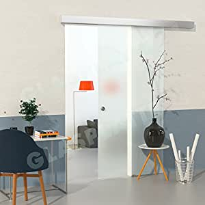 duradoor glasschiebet rset aus sicherheitsglas in satiniert 2050mmx900mm glasschiebet r auf. Black Bedroom Furniture Sets. Home Design Ideas
