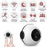 Mini Überwachungskamera, Mica House 1080P / 720P drahtlose tragbare Action-Kamera Motion Detection und IR-Nacht-Version kompakte Indoor/Outdoor-Camcorder16GB (Unterstützung bis zu 64 GB) (weiß)