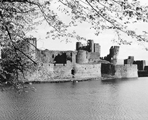 Caerphilly Castle Wales Poster Drucken (60,96 x 91,44 cm) -
