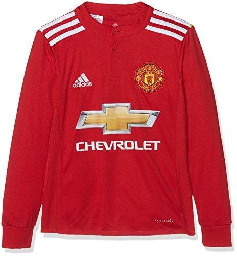 Adidas MUFC H JSY Yl Camiseta 1ª Equipación Manchester United FC, Niños, Rojo (rojrea/Blanco / Negro), 164 (13/14 años)