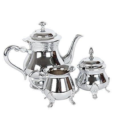 albena shop 73-130 Meyza ensemble de thé de 3 pièces théière sucrier pot à lait