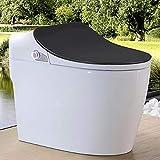 CZP Intelligente Toilette, einteiliges elektrisches intelligentes Bidetinduktionsspülen keramische intelligente Toilette, Sitzheizung warme Lufttrocknung,B,pitdistance400mm