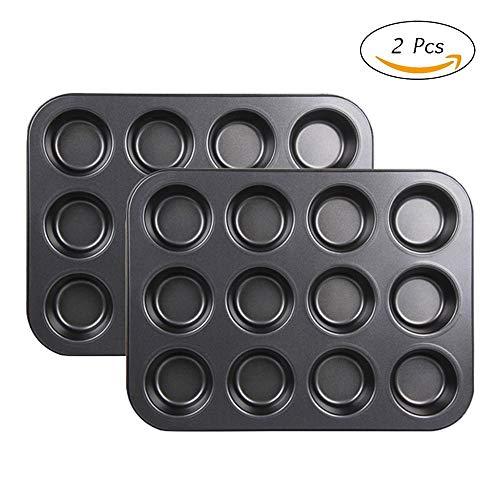 2 moldes para horno con 12 agujeros