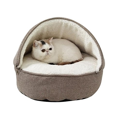 Pet Dog Bed - Gepolsterte Pet Bolster-Bettmatratze Pet Bed for Dogs & Cats-Pet Supplies rundes Hundebett Dog Lounge (Farbe : Brown, größe : M) -