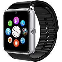 Montre Connectée,Willful Bluetooth Smartwatch Montre Sport Carte Sim de Soutien Carte de TF Caméra Podomètre,Sommeil,Calories Samsung Sony Huawei Android Femme Homme Enfant