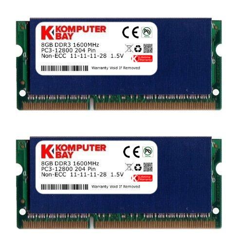 Komputerbay - modulo di memoria sodimm ddr3 per pc portatile da 16 gb, 204 pin, pc3-12800, 1600 mhz, con dissipatore di calore, colore: blu
