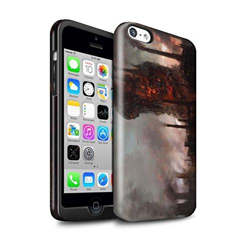 Offiziell Chris Cold Hülle / Glanz Harten Stoßfest Case für Apple iPhone 5C / Pack 8pcs Muster / Gefallene Erde Kollektion Industrie Maschine