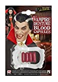Dents de vampire fictives avec des capsules de sang Faux Déguisement de maquillage Halloween Carnaval