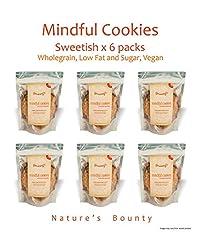 Grainny's Organic Whole-Grain Vegan Mindful Cookies - Sweetish (Pack Of 6) 480 gms
