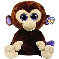 TY 7136800 - Coconut Boo X-Large - Affe braun, 42 cm, Beanie Boos, Glubschis
