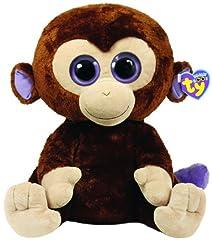 Idea Regalo - Ty 7136800 Coconut Boo X-Large - Beanie Boos, scimmia di peluche 42 cm con occhi grandi, colore: Marrone