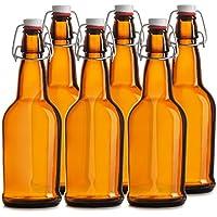 Chef de Star fácil tapa botellas de cerveza, 16oz, Paquete de 6