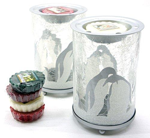 2x Offizielle Yankee Candle Penguin Crackle Wax Melt Wärmer Brenner gehören 6x Sortiert Weihnachten Festive Season Tarts