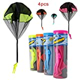 Product Detail   Brand: HAHAone HAHAone Toy Parachute Men (4 Piece Set)  Features:  ★Tangle Free ★ No Batteries ★Just Toss It High Watch It Fly ★Fun for hours Description:  Material: Fabric and Plastic Man Parachute Diameter Size: 43.5cm Para...