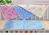 #7: Fareto Nappy Changing Mat/Sleeping mats/Water Proof Bed Protector with Foam Cushioned for New Born Baby 4 Sheets (0-6 Months)