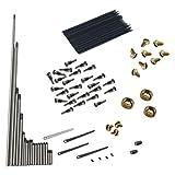 MagiDeal Reparatur Werkzeug Set für Alt Saxophon, inkl. Spindel + Schraube + Feder Blatt + Feder Nadel