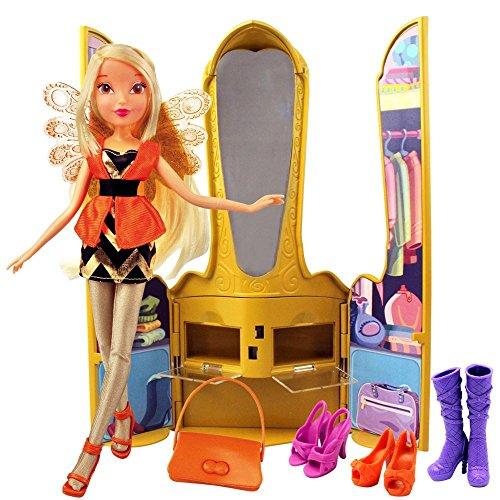 Winx Club Stella | Magischer Thron Puppe & Accessoires | Staffel 7 (Set Puppen Winx)