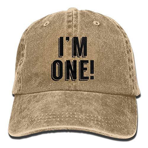 ,Kappen Mützen I'm 1st Birthday Denim Hat Adjustable Women's Casual Baseball Cap ()