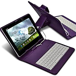 Fone-Case (Dark Purple) Tablet Micro USB Clavier QWERTY Case 8'' inch Ultra Thin PU Cover Stand avec fermoir magnétique Pour Acer Iconia Tab 8 (A1-840FHD)