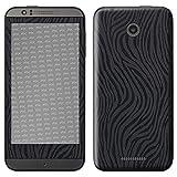 atFolix HTC Desire 510 Skin FX-Wave-Black Designfolie Sticker - Fühlbare Wellen-Struktur