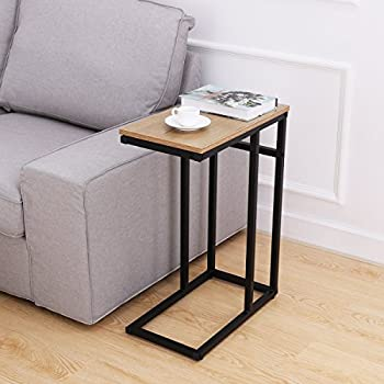 homemaxs sofa side end table c table snack table with wood finish rh amazon co uk small sofa tables sale small sofa table ikea