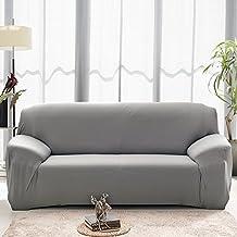 Funda para sofá 2plazas funda elástica para sofá pantalla Slip Cover Gris
