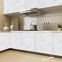 KINLO Papel Pegatina Autoadhesivo 0.61 x 5M PVC de Cocina/Mueble/Puerta/Armario/Pared Pintado Adhesivo para Muebles - Blanco
