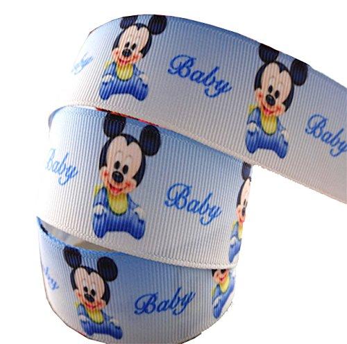 2m x 22mm Süß Baby Mickey Mouse Disney Band für Baby-Duschen, Kuchen, Taufen, Geschenkpapier, Presents (Baby Minnie Maus Baby-dusche)